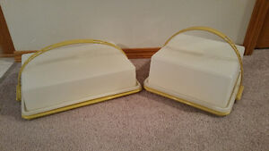 Vintage Tupperware Rectangular and Square Cake Containers