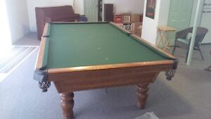 Snooker Table, 5ft. x 10ft., slate top Olhausen