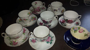 Bone china cups and saucers from England