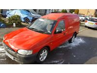 Red escort van brand new clutch and alternator fitted perfect to drive