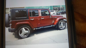 Chrome Rims and tires for sale size 22 inches