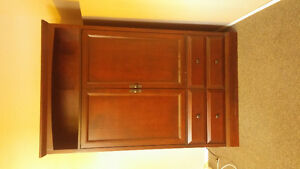 T.V cabinet with display shelf and storage drawers