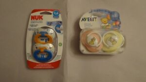 pacifiers and clips