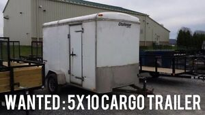 Wanted : Used 5x10 cargo trailer needed