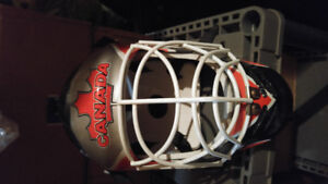 Hockey goalie helmet like new and sold as you see it! need gone