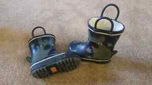 Toddler Size 5 Shoes and Rain Boots London Ontario image 2