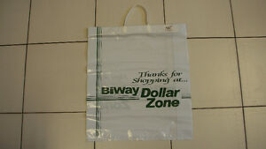 Collectible Biway Dollar Zone Quality Shopping Bag Circa 1995