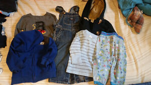2 diaper boxes of baby boy clothes for sale