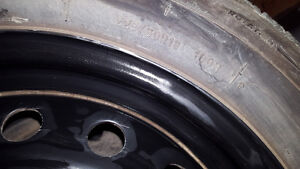 WTT Set of 225/60R18 winter tires+rims for a vehicle