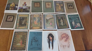 Postcards from Anne of Green Gables books... plus coins & stamps