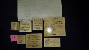 """Stampin Up Wood Stamps """"If The Halo Fits"""" Scrapbooking Card NEW Strathcona County Edmonton Area image 1"""
