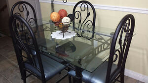Dining room table and chairs & Bar stools