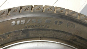 2x 215/55/17 Winter Tires & Rims Good Condition Toyota Venza West Island Greater Montréal image 5