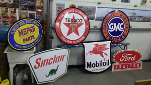 CLASSIC BARN AND GARAGE  GASOLINE SIGNS