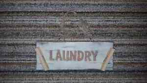 Wooden Laundry sign Peterborough Peterborough Area image 2