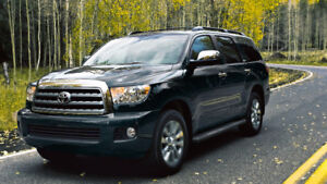 2015 Toyota Sequoia 8 seater Limited with DVD and remote starter