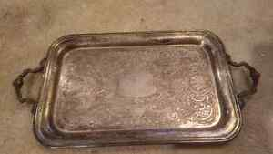Old, antique, vintage silver-plated tray and bowl Kitchener / Waterloo Kitchener Area image 2