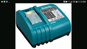 Wanted. 18v Makita charger. Batteries if available.