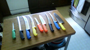 Chef's quality commercial kitchen knives