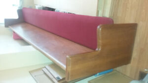 Upholstered Wooden Pew 10 feet 7 inch