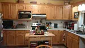 Oak Kitchen Cabinets and Drawers