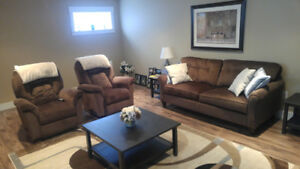 LazyBoy Sofa, Rocker Recliners and Coffee Table Set