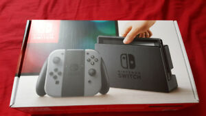 Nintendo Switch Console Gray Joy Con - NEW with Receipt