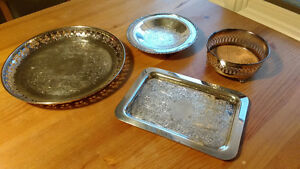 Group of Silver Plated Dishes