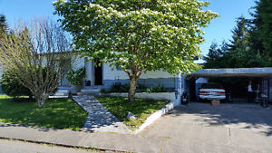 Vancouver Island Estate Corner lot  with Double Wide