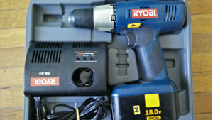 Ryobi drill with battery, carrying case and charger $125 OBO
