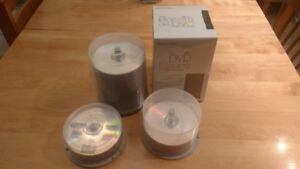 Blank DVD's and 10 blank cases