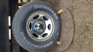 NEW 235 75 16 tires on 454 ss rims
