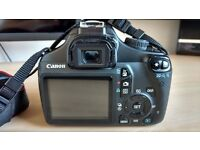 Canon EOS 1100D with 18-55mm and 50mm lenses