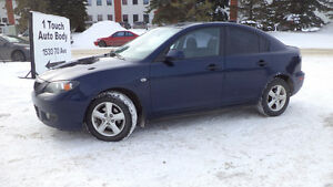 08 MAZDA3 - auto LOADED - A/C - NEWER TIRES - ONLY 195,000KMS