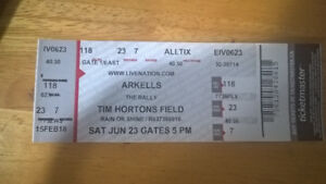 For Sale: One (1) Arkells - The Rally concert Ticket