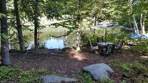 Terrain aménagé avec accès direct au lac.