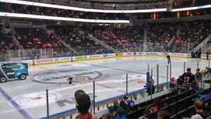 Below Face Value Row 9 Club Oilers vs Ducks Saturday April 1 Edmonton Edmonton Area image 4