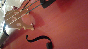 Cello with bow, case, and puck
