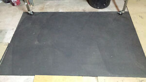 5 Rubber gym exercise mat available for weightlifting $30 each