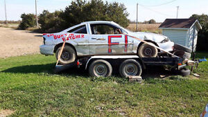 SBR bomber race car and trailer