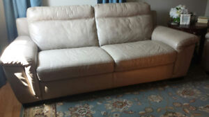 Genuine Leather Couch & Recliner
