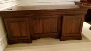 Executive Desk and Hutch Quality solid wood cherry stain