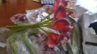 Real touch calla lilies pink / purple
