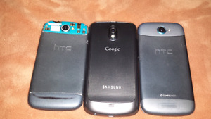 For sale, two HTC and one Samsung cellphone  take all for $25