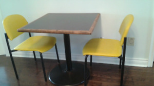 Restaurant used good quality table & chairs set