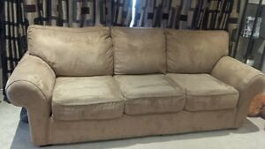 microfibre Sofa with matching Loveseat