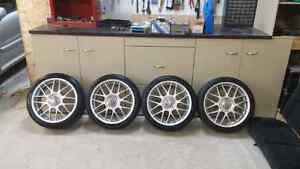 Mags BBS RC jetta gli 18 pouces avec pneus