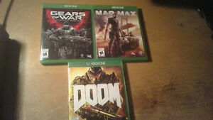 Doom, Mad Max, Gears of War ultimate edition,GoW 1-3+Judgement