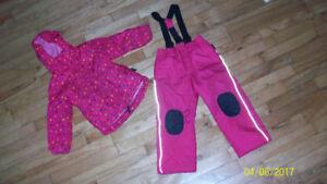 Manteau & pantalon hiver fille 5 ans