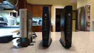 Dlink router and SURFboard cable modem.